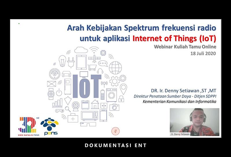 Departemen Teknik Elektro PENS Gelar Kuliah Tamu Online Bersama Kementerian Komunikasi dan Informatika RI